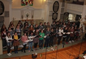 'Cantelina' record a CD at St. Swithins Church, Bath